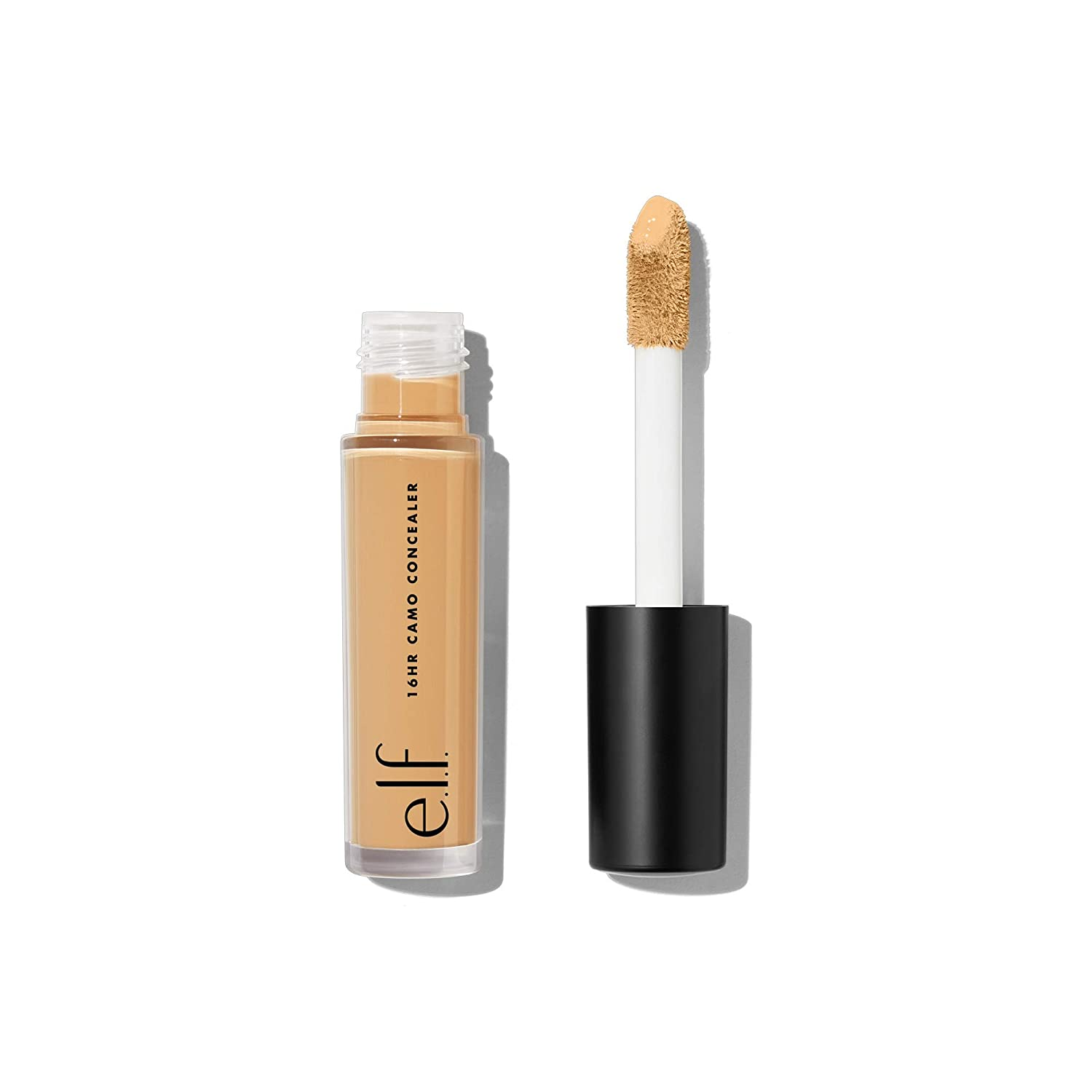 e.l.f., 16HR Camo Concealer, Full Coverage, Lightweight, Conceals, Corrects, Contours, Highlights, Medium Sand, Dries Matte, 6 Shades + 27 Colors, Ideal for All Skin Types, 0.203 Fl Oz