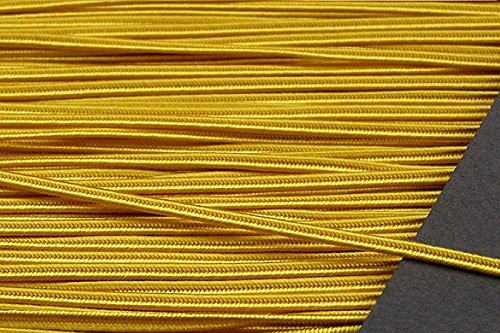 (GOLDEN YELLOW 3MM Original Viscose Soutache Braid Cord String Beading Sewing Quilting Trimming)