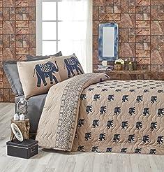 DecoMood Elephant Bedding, Full/Queen Si...