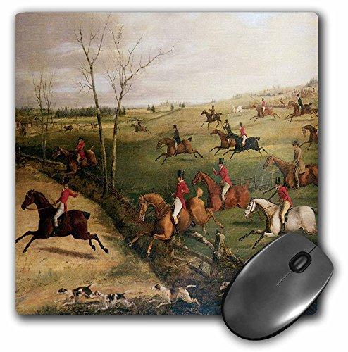 3dRose BLN Horses Fine Art Collection - The Oakley Hunt by Henry Thomas Alken - MousePad (mp_129780_1)