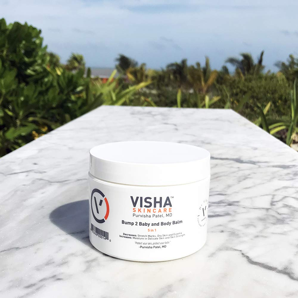 Visha Skincare Bump 2 Baby Body Balm - Soothes Dry Skin and Eczema, Prevents Stretch Marks and Strengthens Skin (10 oz)