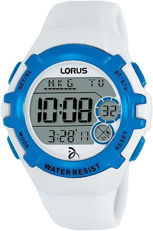 Lorus Reloj Digital para Unisex de Cuarzo con Correa en Silicona R2393LX9