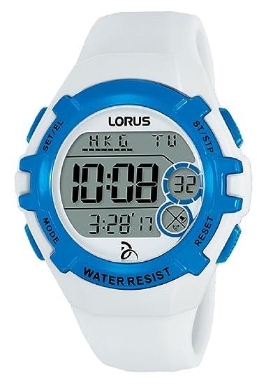 Lorus Reloj Digital para Unisex de Cuarzo con Correa en Silicona R2393LX9: Amazon.es: Relojes