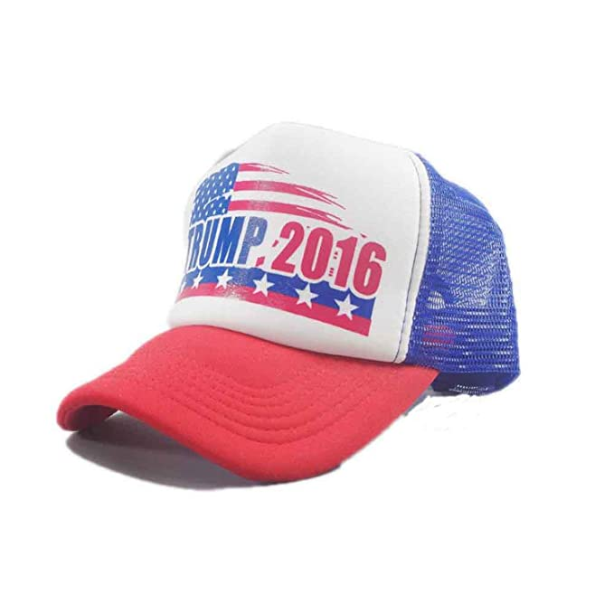 Make America Great Again Hat Donald Trump 2016 Republican embroidered Mesh Cap.