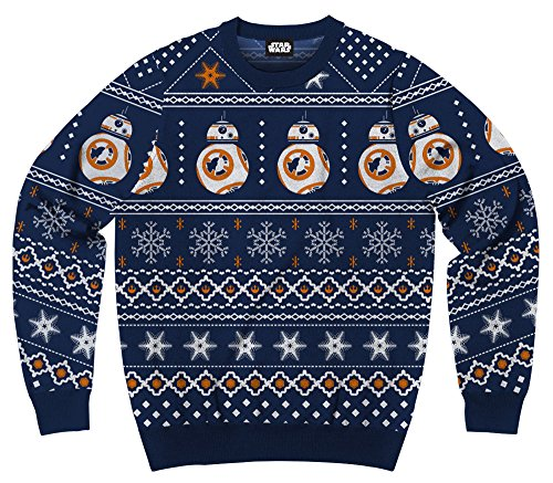 Men's Disney Star Wars Bb8 Droid Ugly Sweater Christmas Sweatshirt (XX-Large)