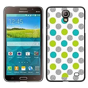 LECELL--Funda protectora / Cubierta / Piel For Samsung Galaxy Mega 2 -- Punto Verde de plata de la chispa blanca --