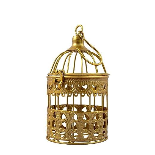 PrimoLiving Deko Metal pájaro Jaula de Oro P 894 Talla S: Amazon ...