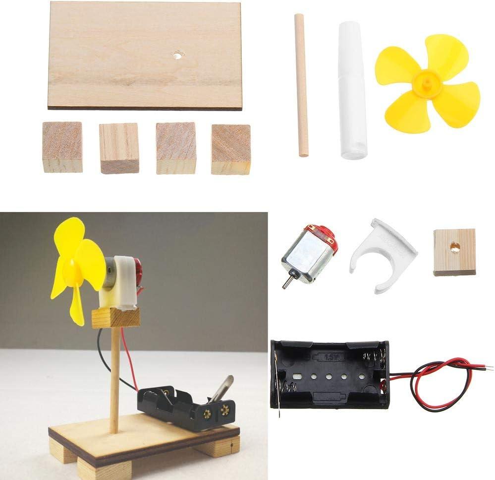 LaDicha Kit Eléctrico De Ventilador Pequeño Juguetes Educativos Pequeña Invención Experimental Modelo De Materiales Electrónicos Kit De Producción: Amazon.es: Electrónica