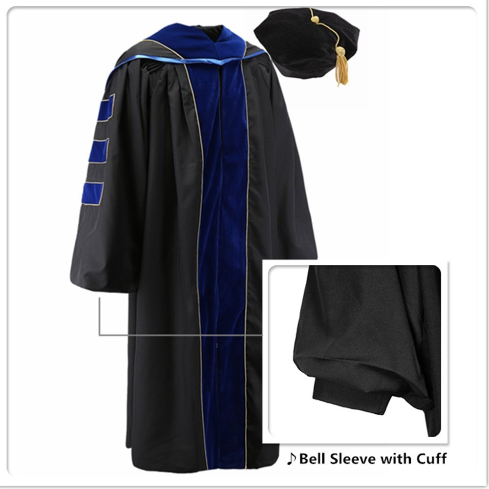 Amazon.com: Robe Depot Deluxe Faculty Doctoral PhD Graduation Gown ...
