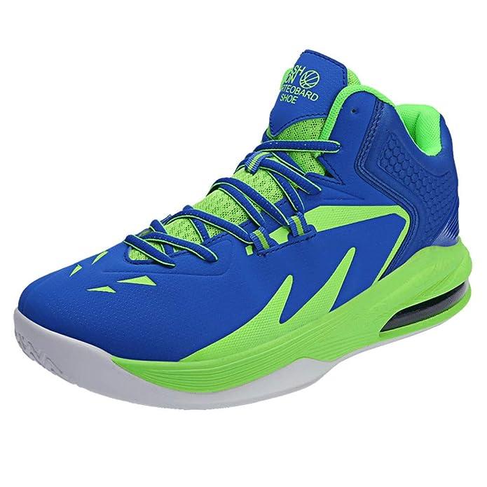 Poamen - Zapatillas de Running Unisex de caña Baja Antideslizantes Resistentes al Desgaste para Baloncesto y Deportes al Aire Libre: Amazon.es: Zapatos y complementos
