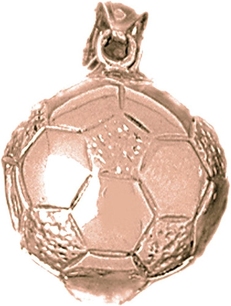 Jewels Obsession - Colgante de balón de fútbol en 3D (oro rosa de ...