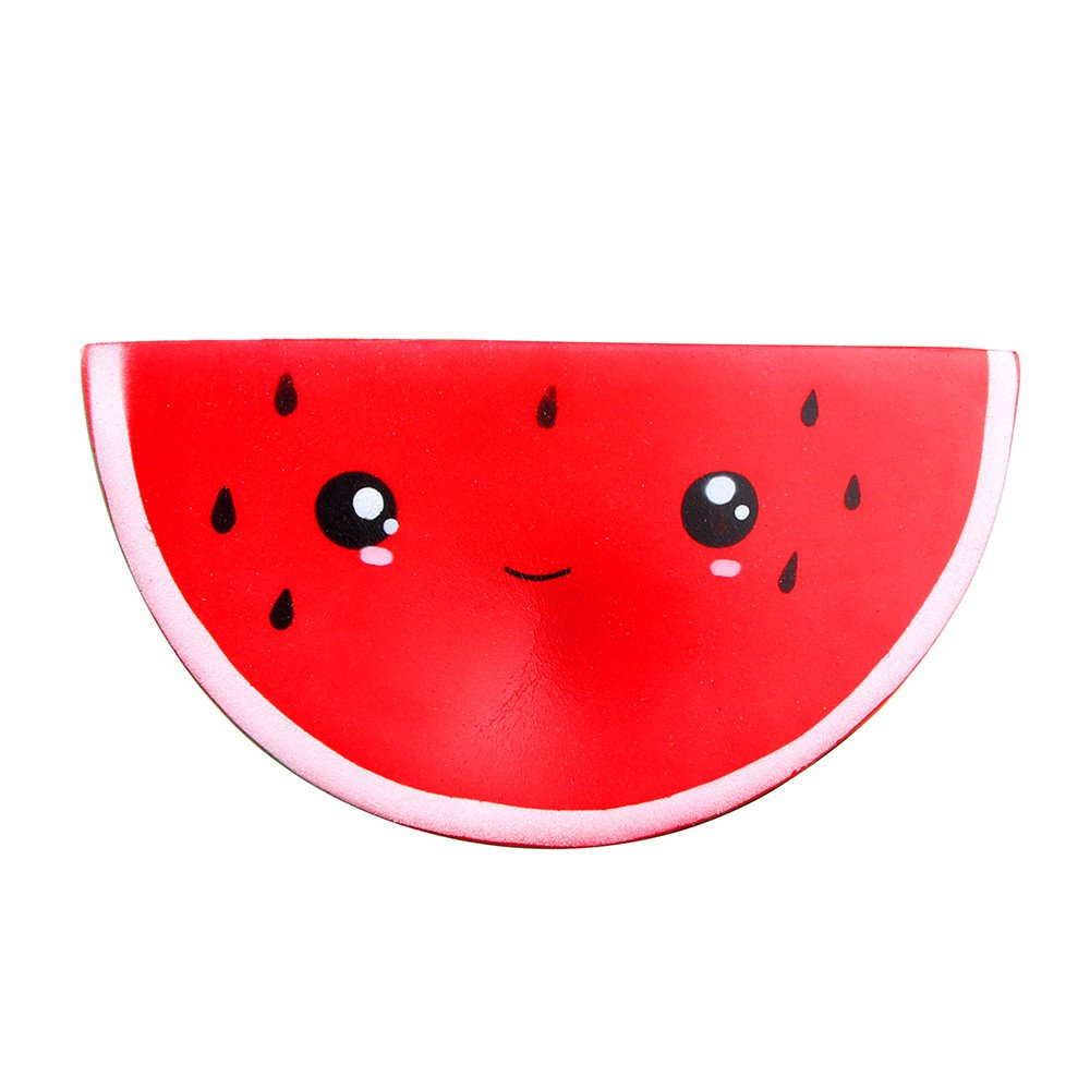 Squishy Cute Smiley Watermelon Cream Squeeze Slow Rising Toys,Selinora'S Stress Cute Kawai Squishy Decompression Soft Relieve Stress Color Mixing Scented Gift for Adult Or Kids