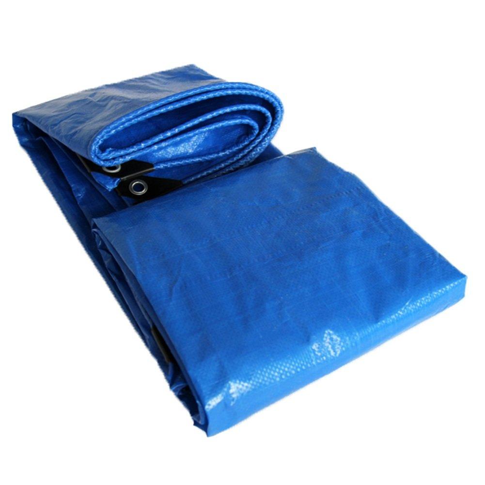 GLJ Tuchregenschirm-Regenplane des Gewebefilm-Planes Verdoppeln Blaue Sonnenregenregen-Plastikplane Plane (Farbe   Blau, größe   5x5m)