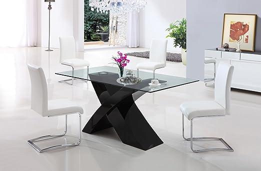 Tavoli Da Pranzo Vetro E Legno.Opinioni Per Tavolo Da Pranzo Cucina Soggiorno In Vetro E Legno