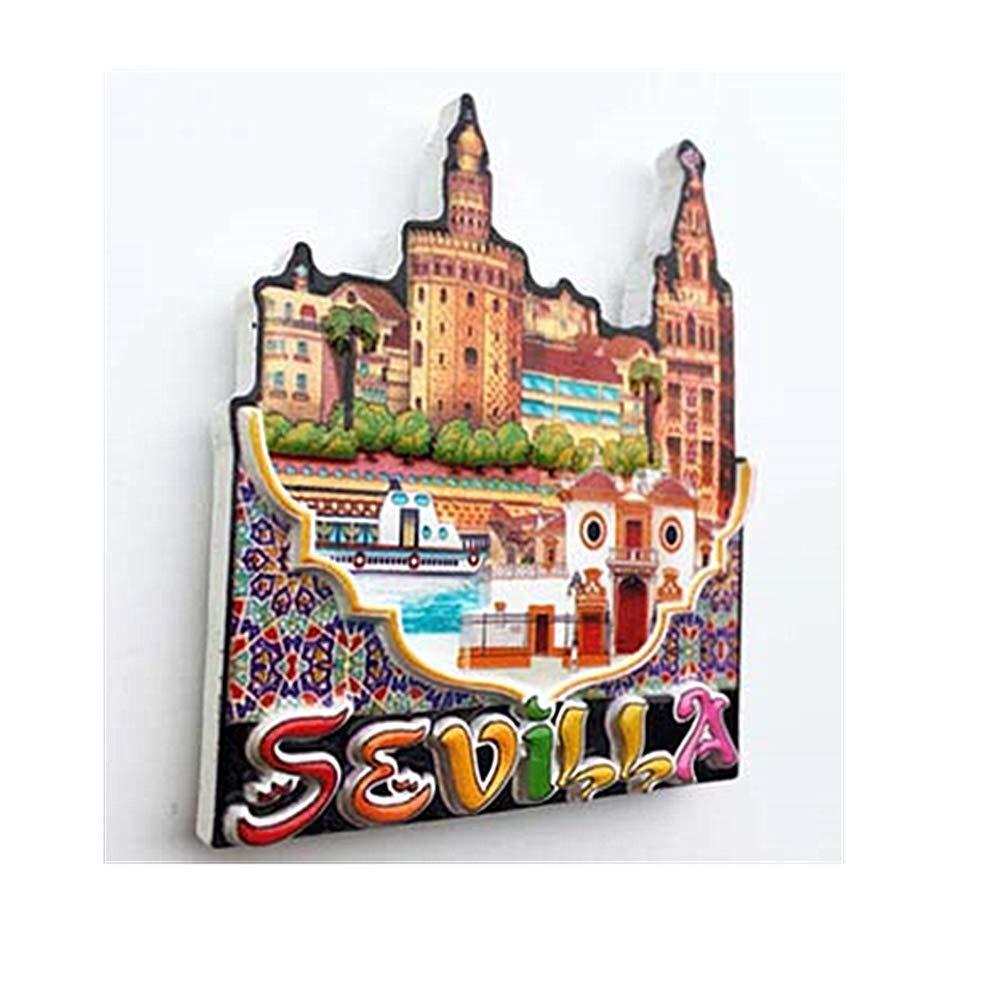 3D MUYU Magnet Magnete da frigo Sevilla Spagna Collezione di Calamite da Frigorifero Idea Regalo Decorazione per casa e Cucina