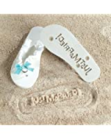 """""""Just Married"""" Flip Flops Stamp Your Message in the Sand! (9/10)"""
