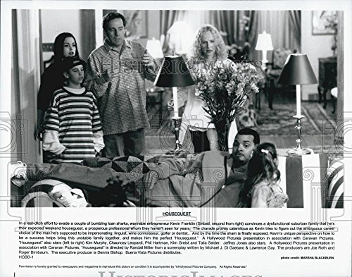 "1995 Press Photo Actors Sinband, Kim Murphy, Phil Hartman In Film ""Houseguest"""