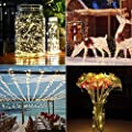 BHCLIGHT Solar String Lights, 200 LED Silver Wire Lights 8 Modes Solar Fairy Lights Waterproof Indoor/Outdoor Decoration String Lights for Garden, Yard, Patio, Lawn, Party, Wedding (Warm White)
