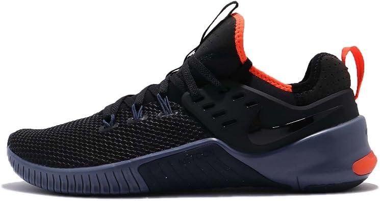 Nike Men's Metcon Free Training Shoe Black/Thunder Blue-Hyper Crimson 12.5