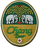 chang beer patches Embroidered Iron on Patch / Hooray Ya