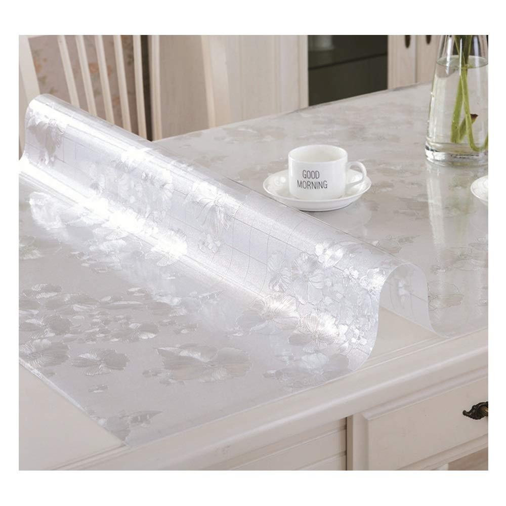 PVC防水テーブルクロスプラスチックガラス透明テーブルクロスアンチホットテーブルマット使い捨てコーヒーテーブルパッドテーブルクロス使い捨てターポリン (色 : C, サイズ さいず : 110x160cm(43x63inch)) 110x160cm(43x63inch) C B07P5BM1J5