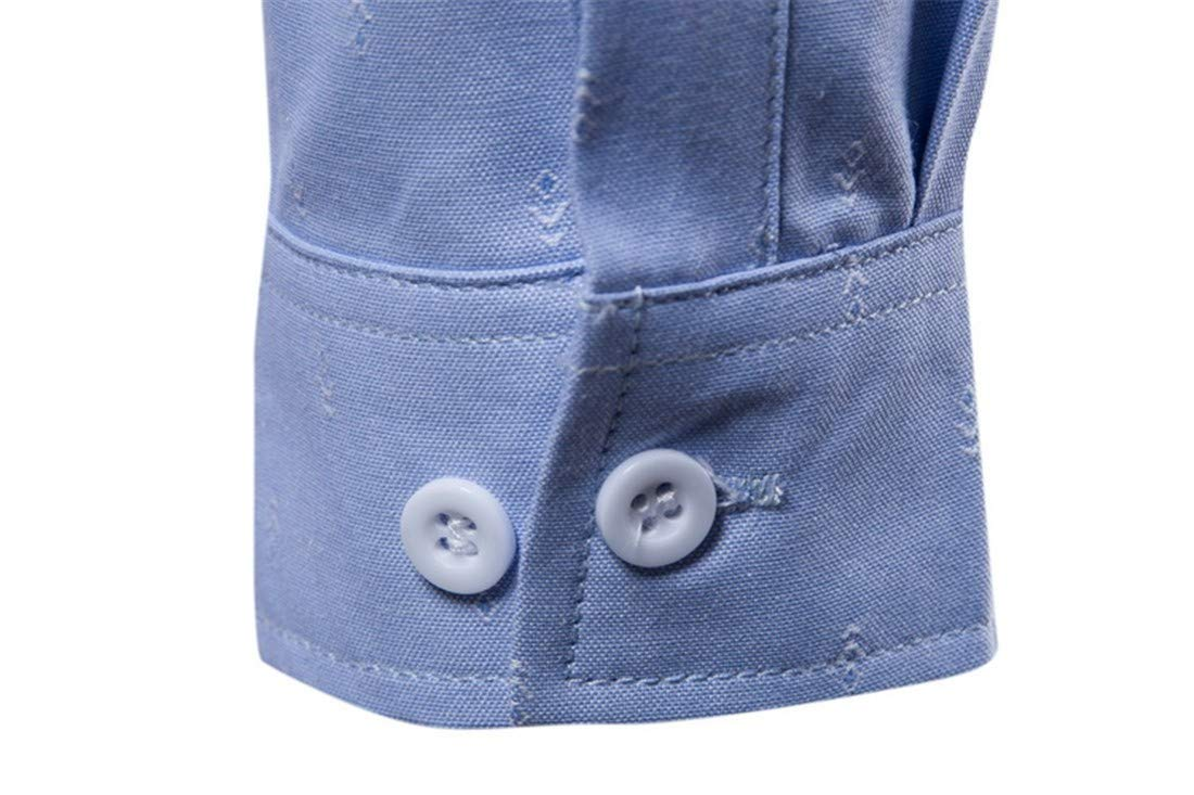 Fashion Printed Casual Lapel Long Sleeve Shirt for Men