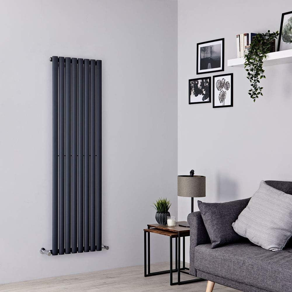 Radiateur Design Vertical Noir Milano Hudson Reed Vitality 160 x 35,4cm