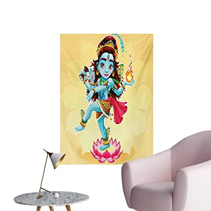 Amazon.com: Anzhutwelve Yoga Poster Wall Decor Cute Eastern ...