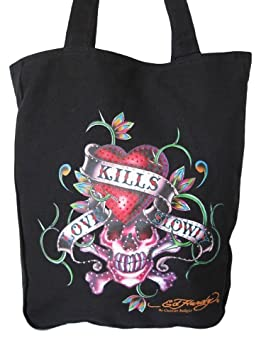 6c1c7359c9bf Image Unavailable. Image not available for. Colour  ED HARDY LOVE KILLS  SLOWLY TOTE BAG