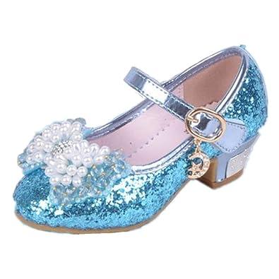 45303dec9ec Frbelle Ballerine Chaussures à talon Bébé Fille Princesse Nœud Papillon  Paillettes Automne Printemps pour Enfant 3