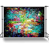 ANVOT Photography Backdrop 7 x 5 FT/2.1 x 1.5 M Colorful Brick Wall Backdrop Background For Photography Studio Video Shooting