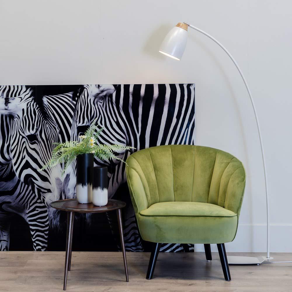 Sillón tapizado de Terciopelo Verde Vintage para salón ...
