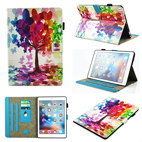 inShang iPad iPad Pro 10.5 Fundas soporte y carcasa para iPad Pro 10.5 inch ((2017 Release) , smart cover PU Funda con Patrón de Diamante + clase alta 2 in 1 inShang marca negocio Stylus pluma butterfly tree