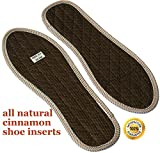 Foot Odor Insoles Women and Men's Shoes - Smelly Feet Inserts with Cinnamon - Best Natural Foot and Shoe Odor Eliminator Controls Stinky Feet Easily - Manage Foot Infections - Enjoy Better Foot Health
