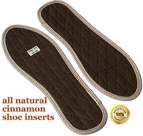Shoe Insoles for Stinky Feet-Foot and Shoe Odor Inserts for Women and Men's Shoes-Cinnamon Inserts Best Natural Odor Eliminator-Stop Smelly Feet-Manag…