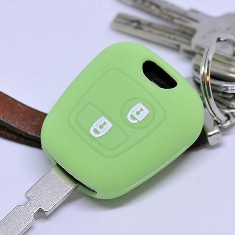 Key Soft Case Cover Funda Protectora Llave del Coche Citroen Berlingo C1 C2 C3 Toyota Aygo Peugeot Partner 107 206 SW CC 406 307 Control Remoto/Color: ...