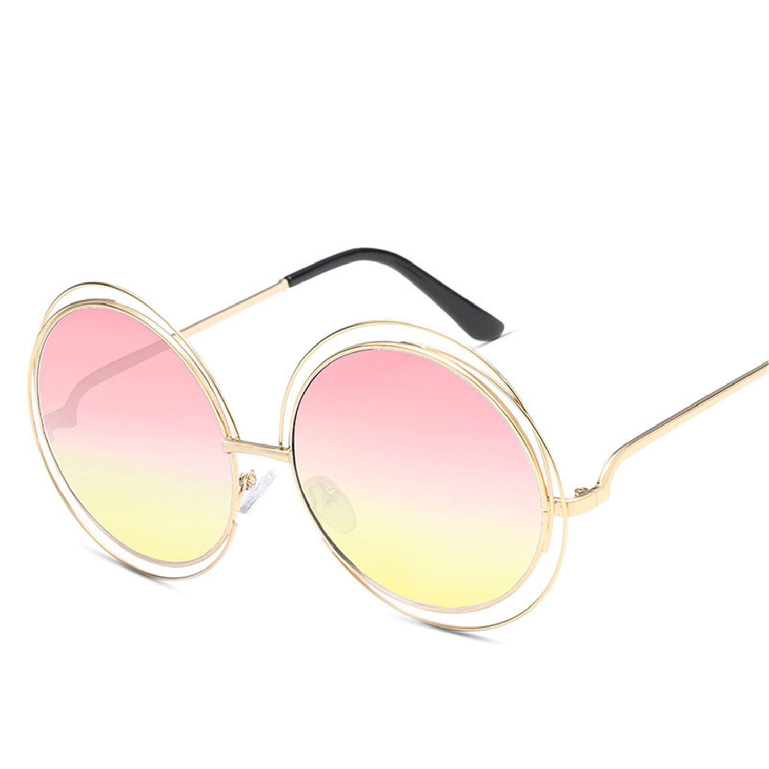 Amazon.com: Luxury Brand Round Womens Sunglasses Fashion ...