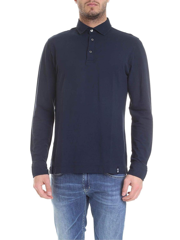 Brand Size M DRUMOHR Men's DTJ204791 blueee Cotton Polo Shirt