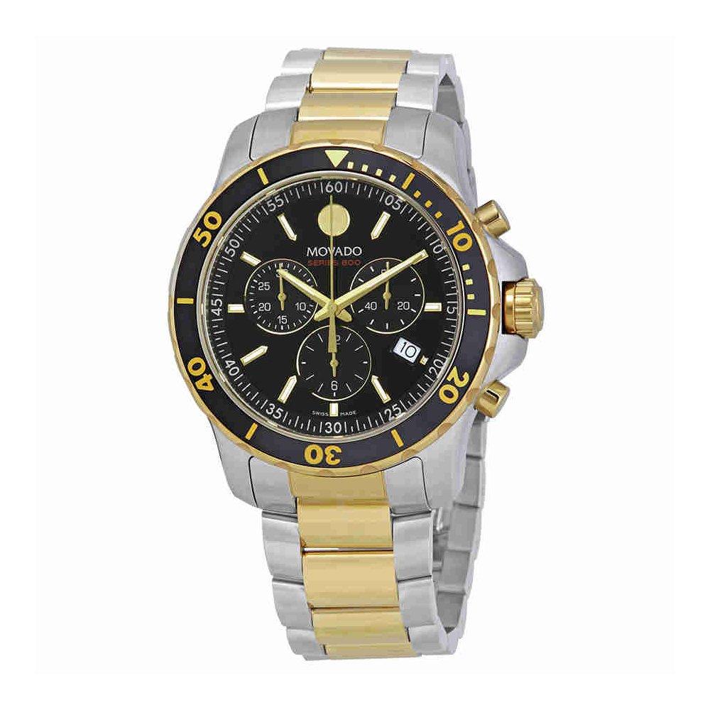 Movado Series 800 Chronograph Black Dial Mens Watch 2600146