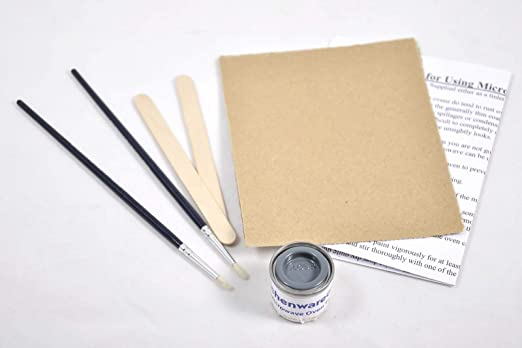 MSC - Kit de Pintura para retoques de microondas, Color Gris ...