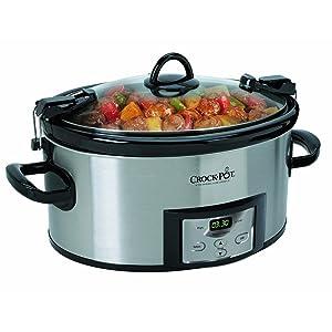Crock-Pot 6 Qt Programmable Cook & Carry Slow Cooker Silver SCCPVL610T