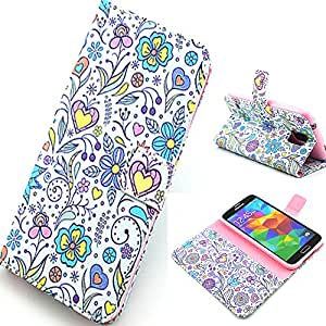 [Samsung Galaxy S5],Leather Case For Samsung Galaxy S5,S5 Wallet Case,Canica Beautiful Printed PU Flip Leather Case Cover For Samsung Galaxy S5 I9600!02