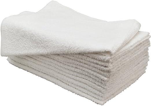 12 new white hand towels home basics salon 16x27 100/% cotton bleach safe sale