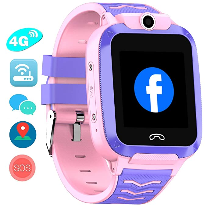 Vowor Kids Smart Watch, 4G WiFi GPS LBS Tracker SOS Llamada de ...