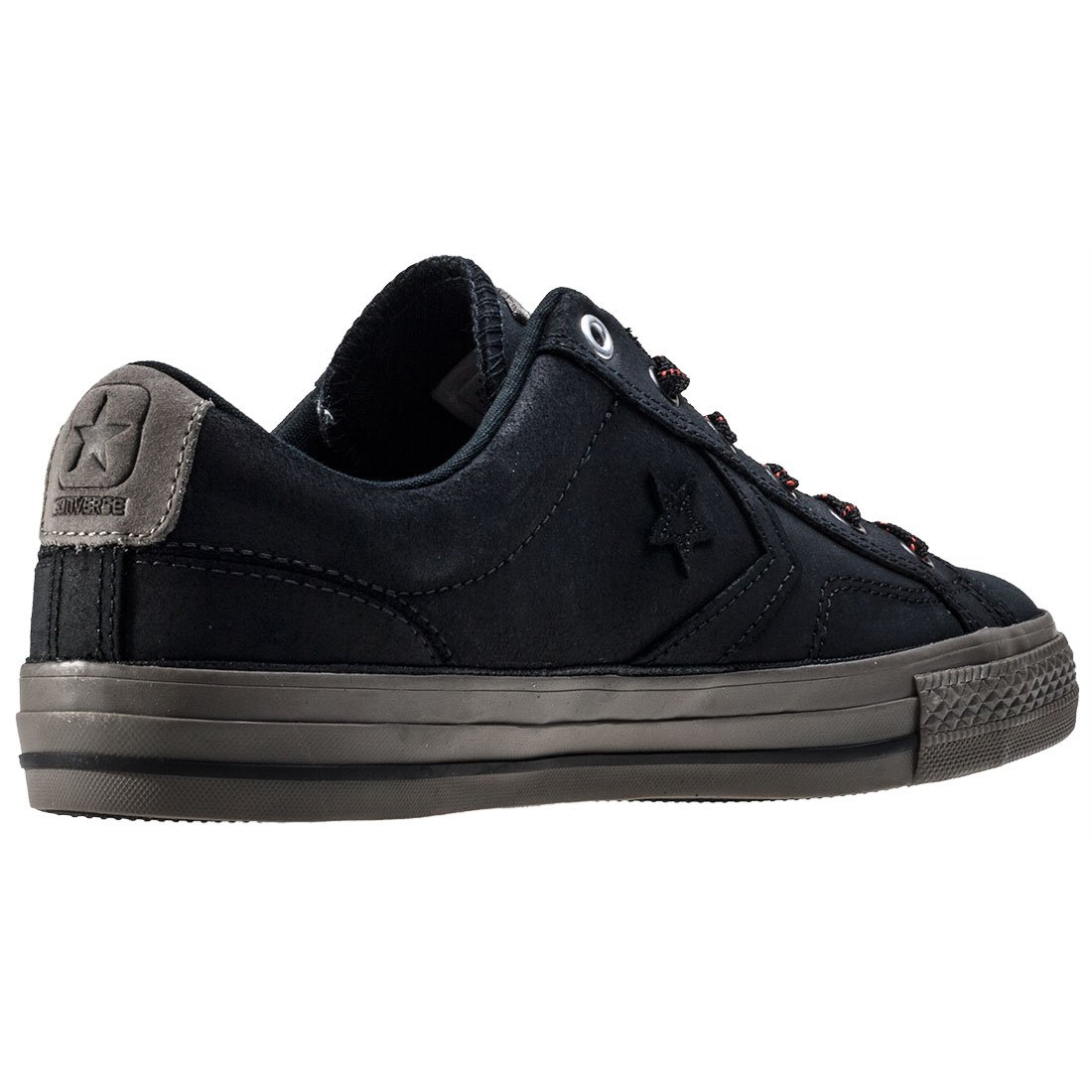 Converse Star Player Premium Leather Ox Trainers Black 11 UK