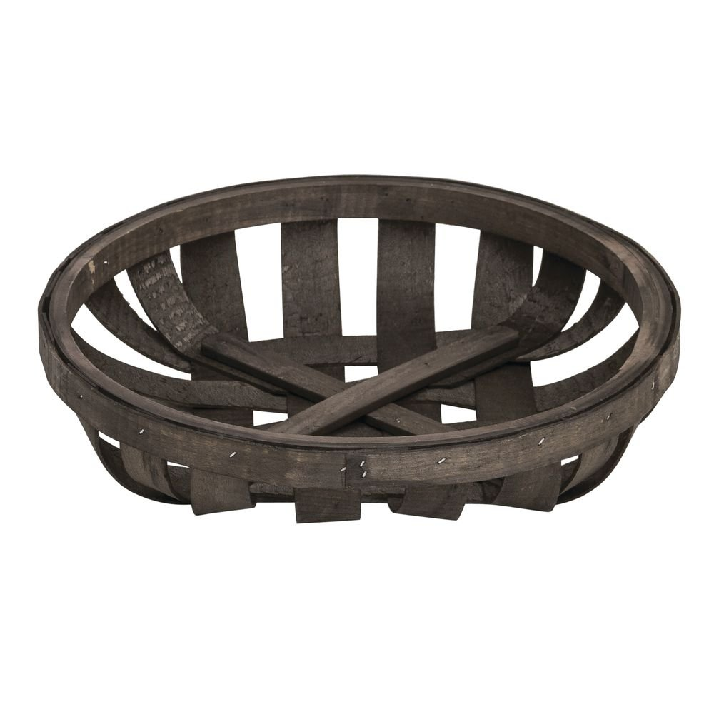 Hubert Tobacco Basket Round Chip Wood - 12 1/2''Dia x 2 3/4''H