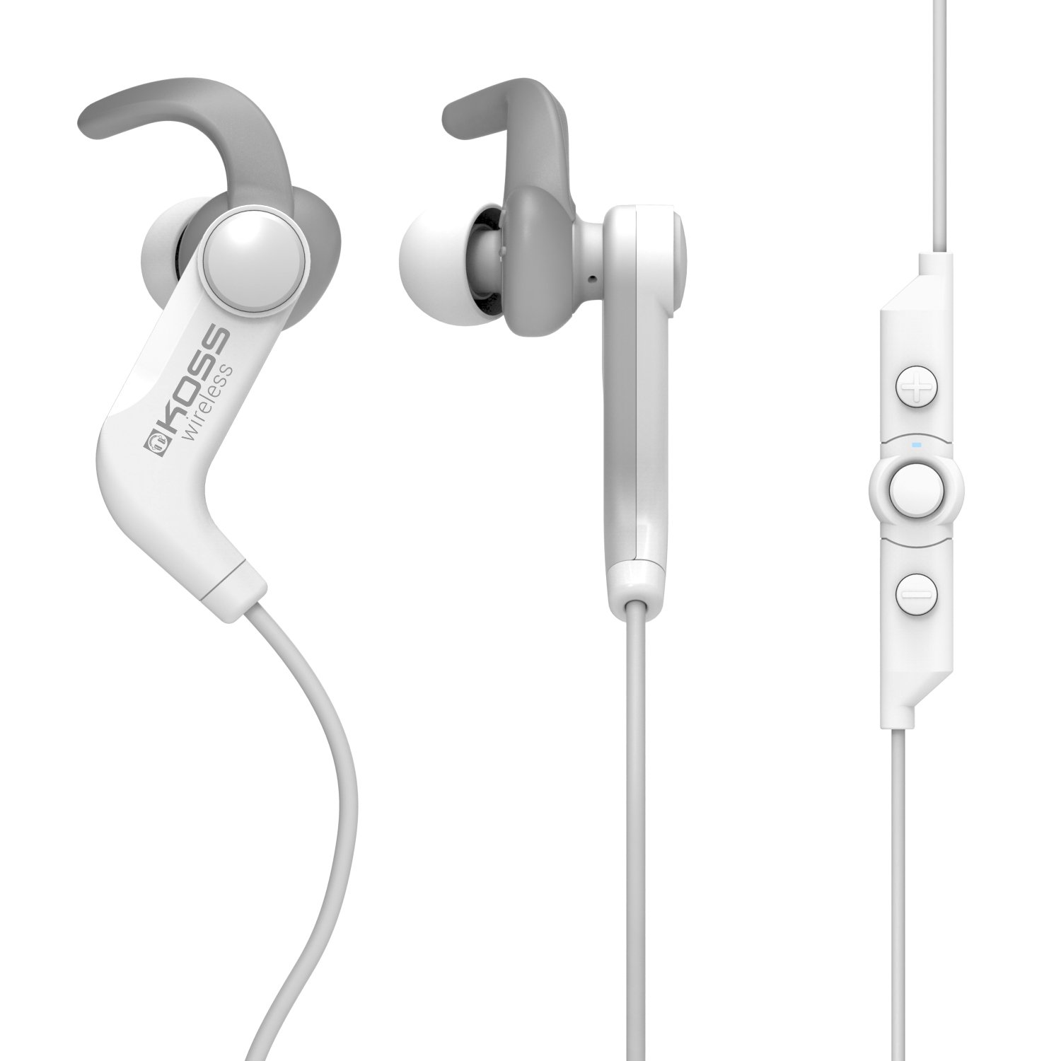 Koss Bt190iw Wireless Bluetooth Earbuds In Line Otto Headset Wiring Diagram Touch Controls Sweat Resistant Three Cushion Sizes Included 6 Hour Battery Life Light Weight White Headphones Home Audio Theater