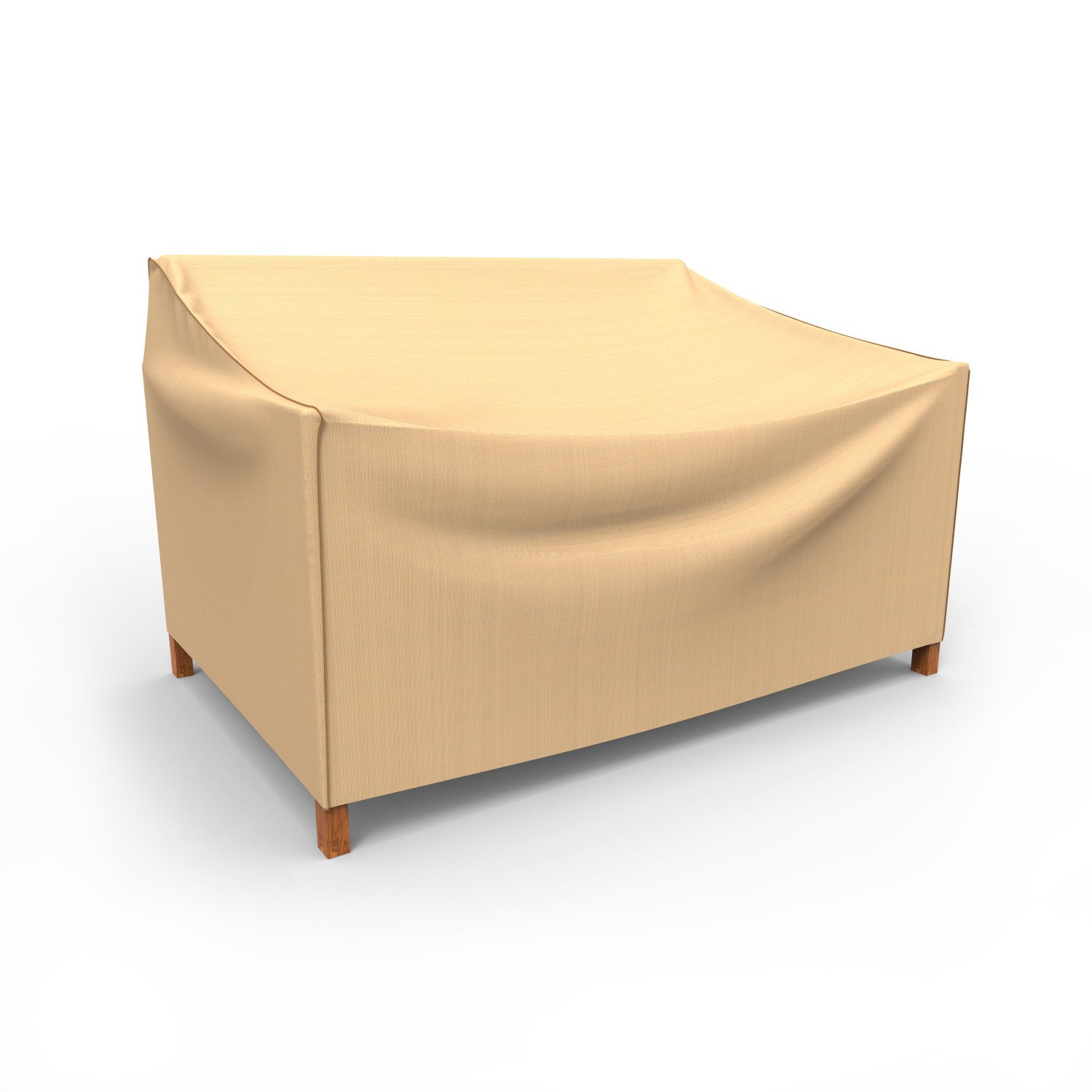 Budge P3A03TNNW1 Outdoor Patio Loveseat Cover-Small Rust-Oleum Neverwet Furniture, 26'' x 50'' W x 29'' deep, Tan