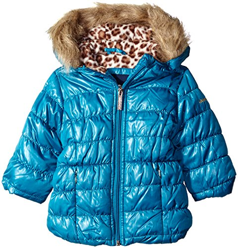 Limited Too Baby Girls' Quilted Iridescent Puffer, Teal, 24 Months