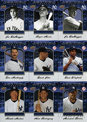 2008 Upper Deck Yankees Stadium Legacy Complete 100 Card Set $47 Becket Book Value. Incudes Derek Jeter, Mickey Mantle,Joe Dimaggio,Babe Ruth,Lou Gehrig and Many More ! ()